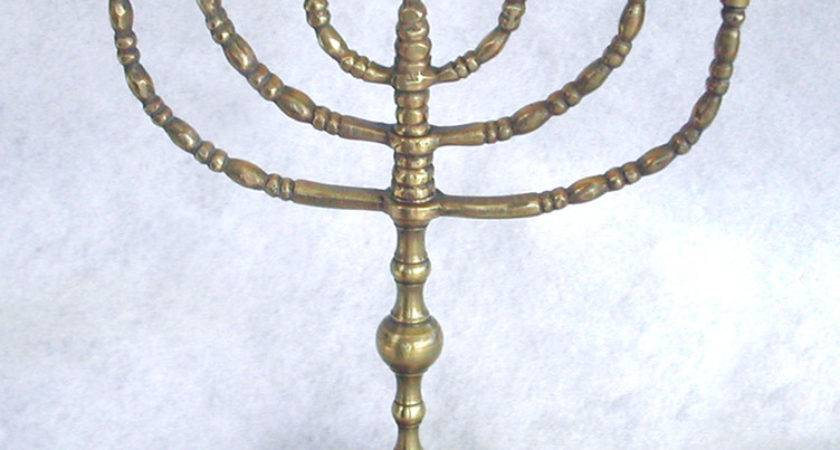 Can Tell Old Brass Menorah Collector