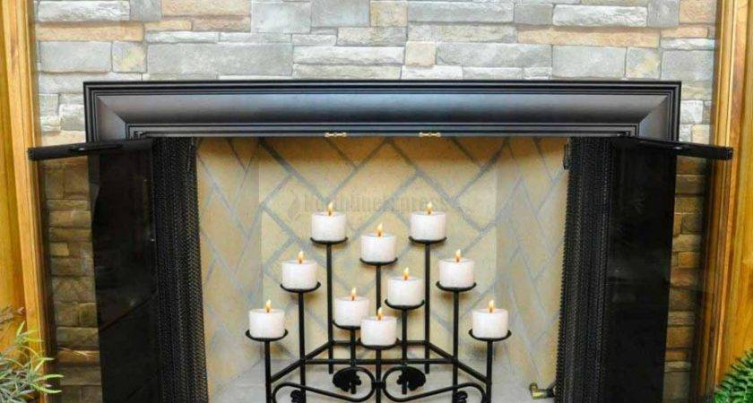 Candle Fireplace Insert Holders