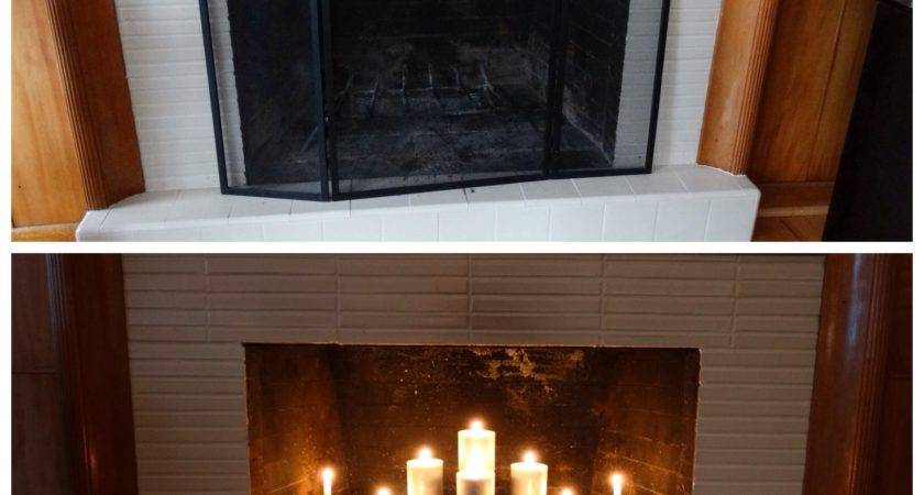 Candle Holders Fireplaces Nice Before After