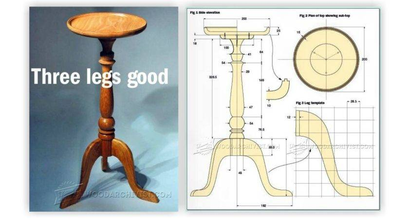 Candle Stand Table Plans Woodarchivist