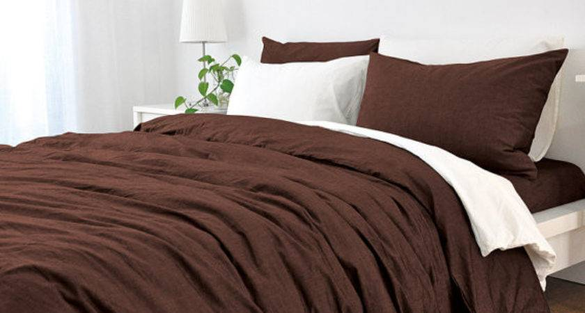 Cedar Linen Dark Brown Duvet Cover Customlinenshandmade