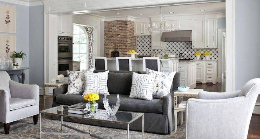 Charcoal Gray Sofa Transitional Living Room Sherwin