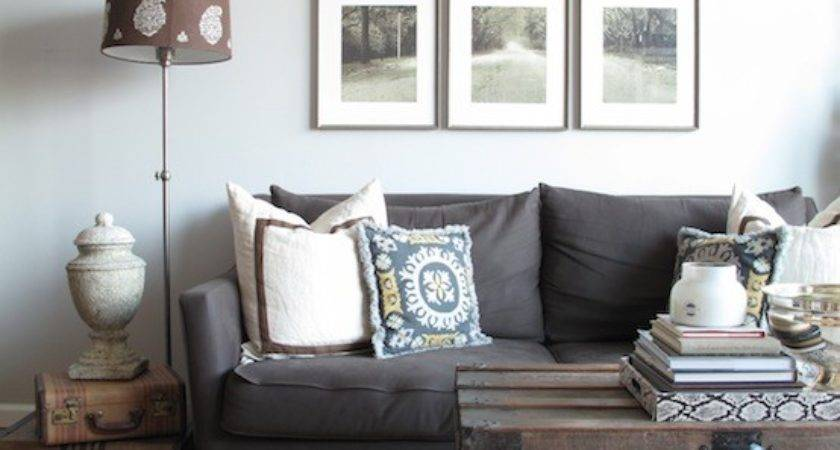 Charcoal Gray Vvlvet Sofa Contemporary Living Room