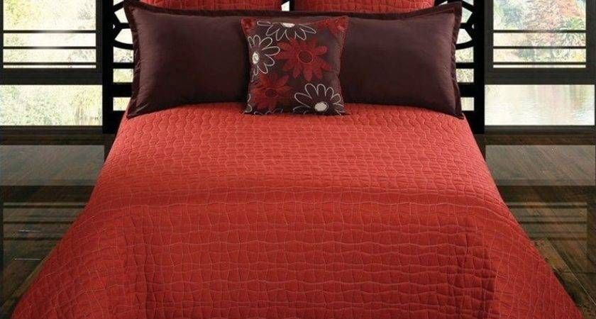 Charleston Coverlet Set Clay Red Brown Comforter