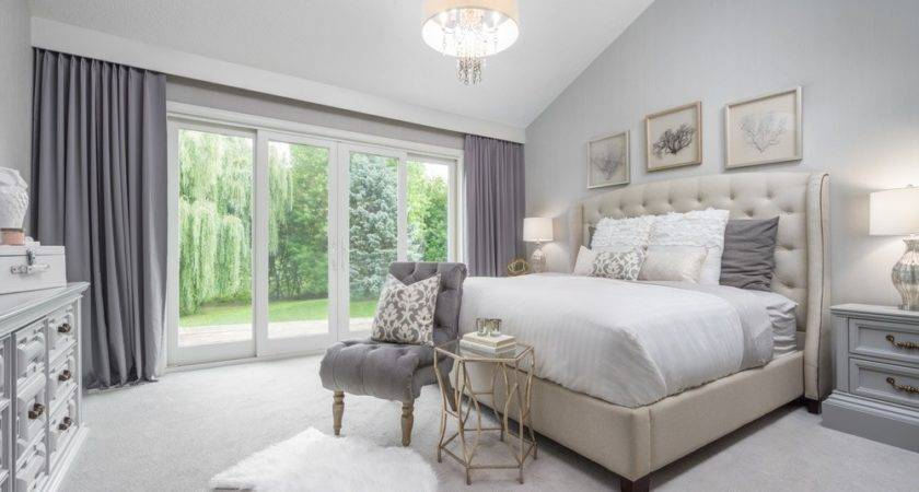 Charming White Grey Master Bedroom Carpet