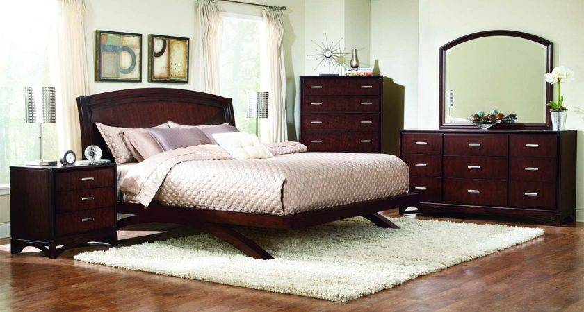 Cheap Bedroom Furniture Piece King Brown