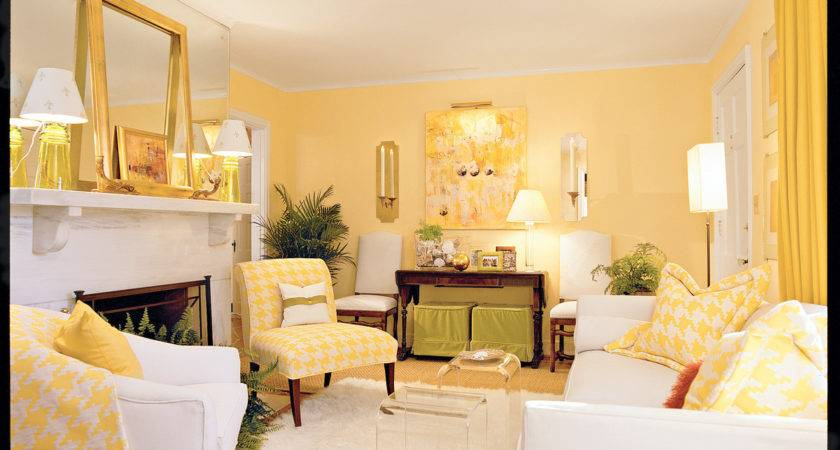 Cheery Yellow Living Room Southern