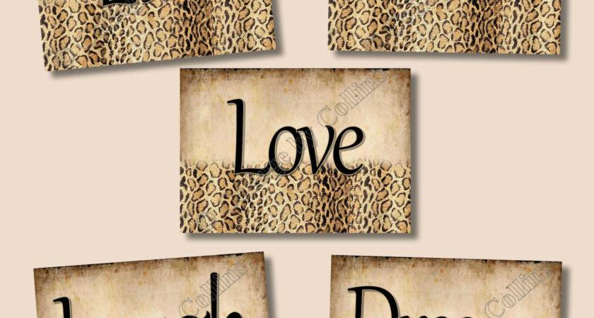 Cheetah Leopard Print Wall Art Decor Girls Room Inspirational