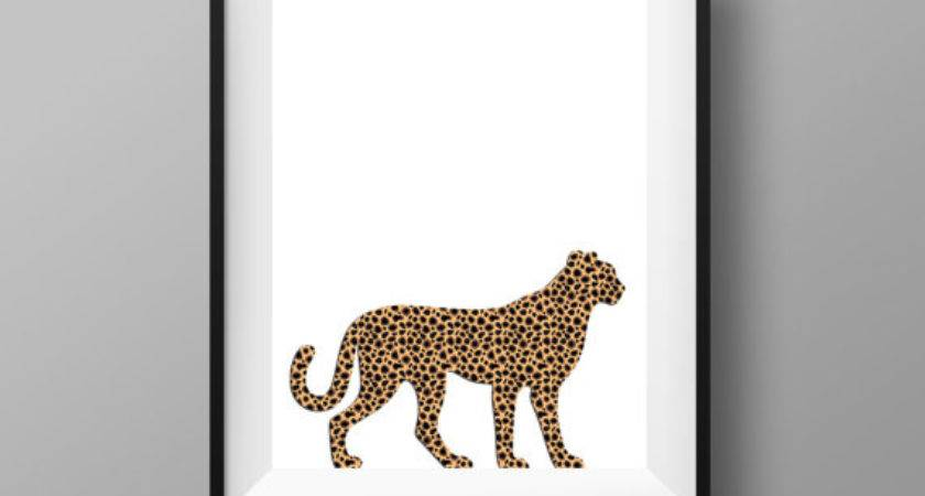 Cheetah Print Decor Poster Instant