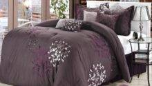 Cheila Purple Silver Plum Piece Comforter Bed Bag