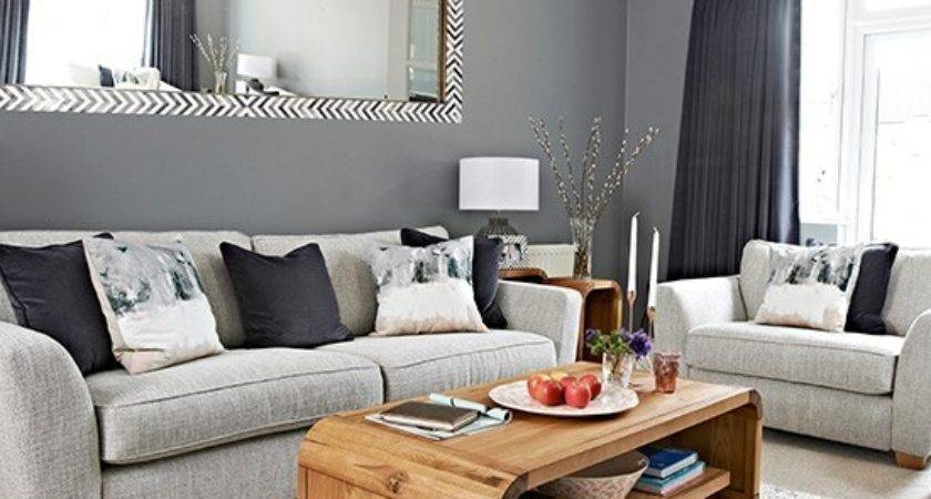 Chic Grey Living Room Clean Lines Housetohome