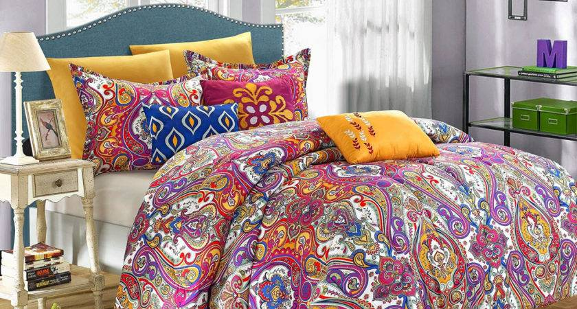 Chic Home Mumbai Bright Paisley Queen Piece Comforter