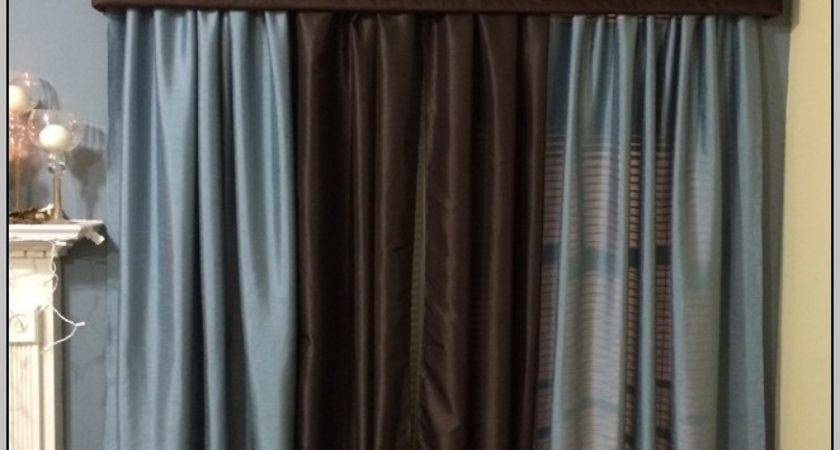 Chocolate Brown Teal Curtains