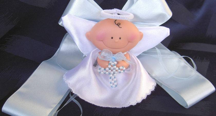 Christening Candle Table Decoration Angel