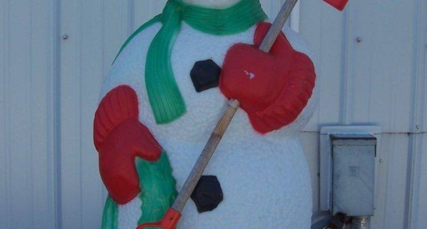 Christmas Blow Mold Yard Decoration Snowman Plastic