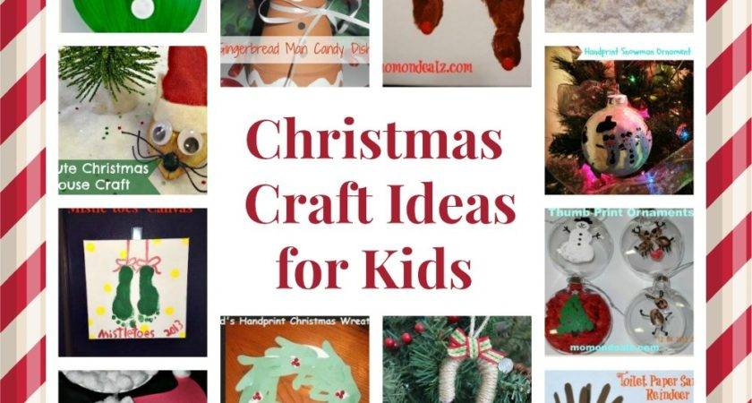 Christmas Crafts Kids Round Ornaments Canvas