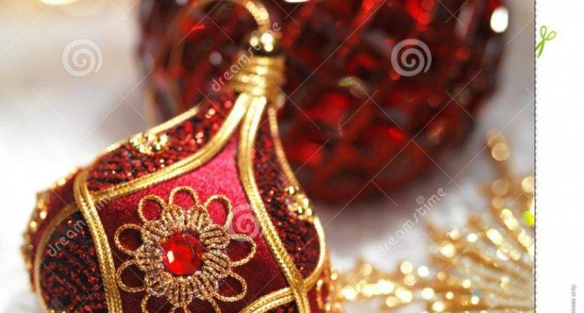 Christmas Tree Decoration Sets Red Gold