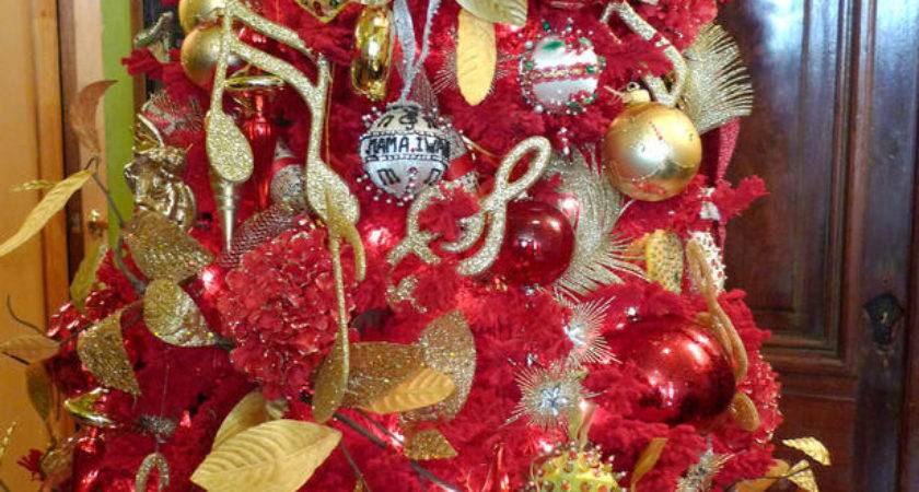 Christmas Tree Decorations Red Gold