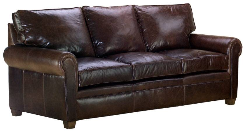 Classic Leather Sofa Set Traditional Rolled Arms