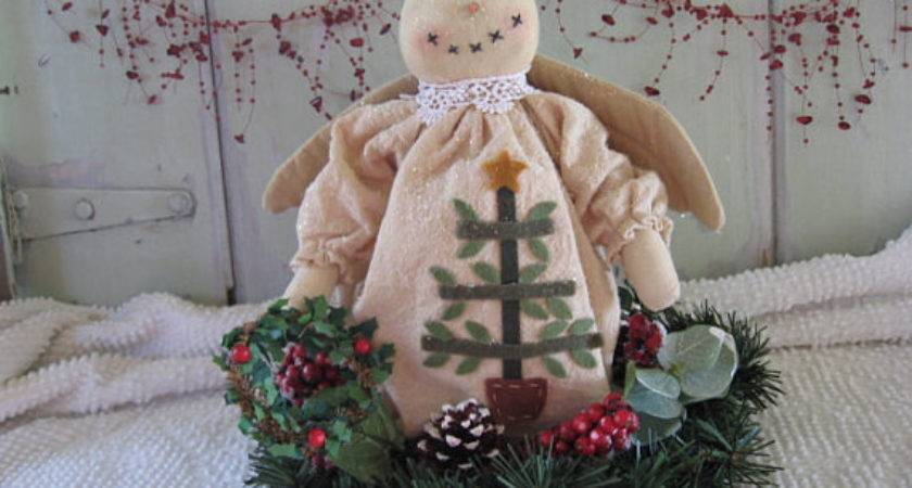 Clearance Sale Angel Christmas Snow Table Top Centerpiece