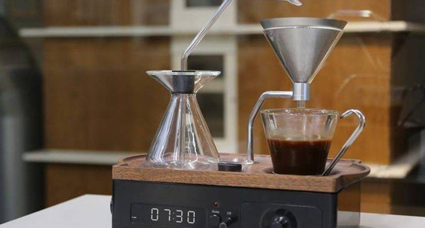 Coffee Brewing Alarm Clock Makes Early Mornings More