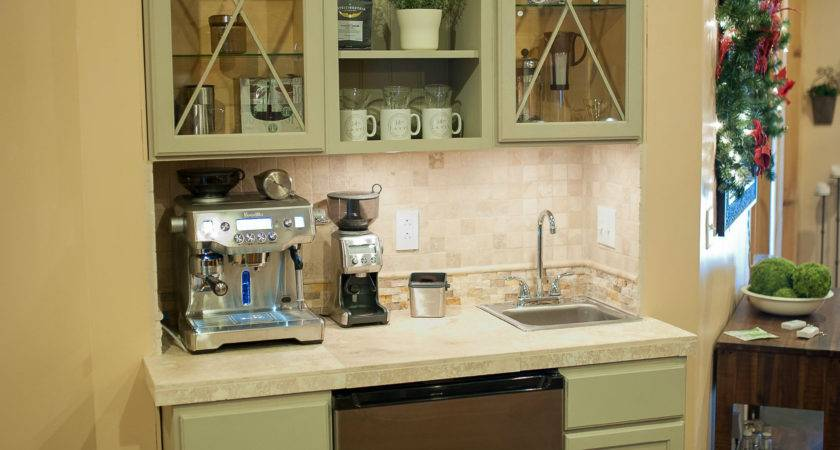 Coffee Station Cabinet Country Design Style Top
