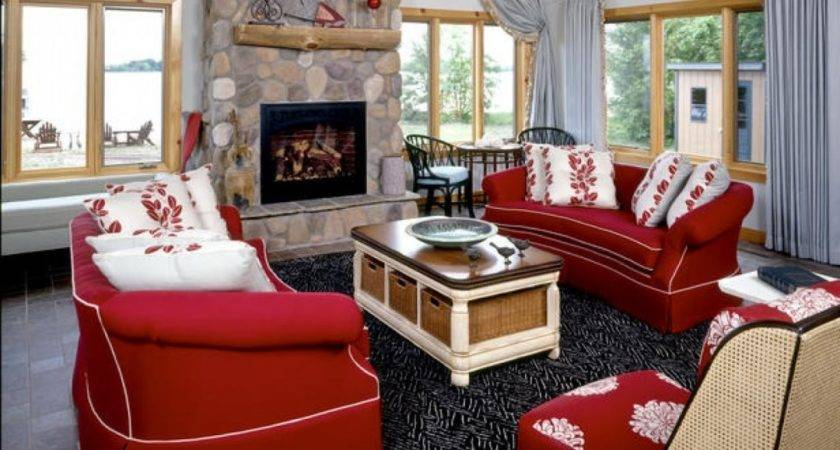 Color Curtains Goes Red Walls Savae