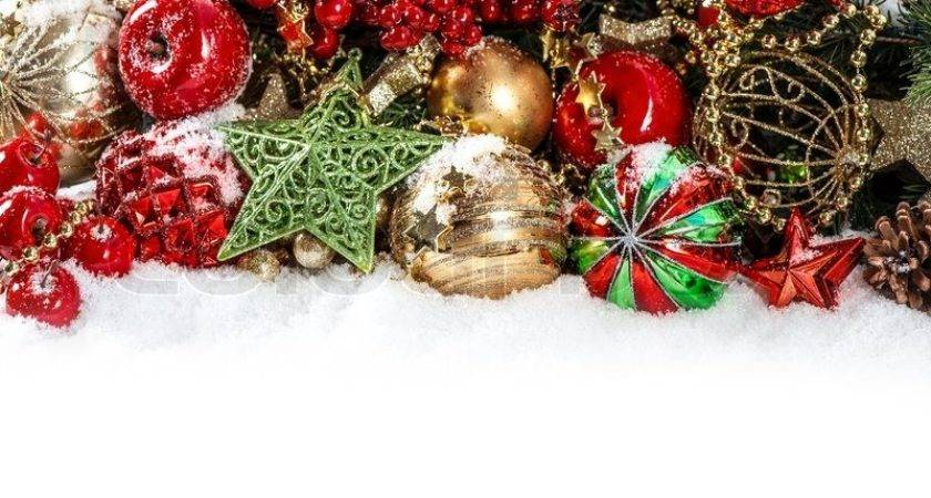 Colorful Christmas Decorations Red Gold Green