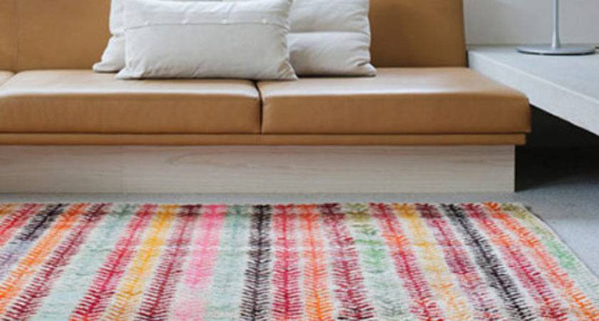 Colorful Livingrooms Rugs Loom Old Yarn Wheat