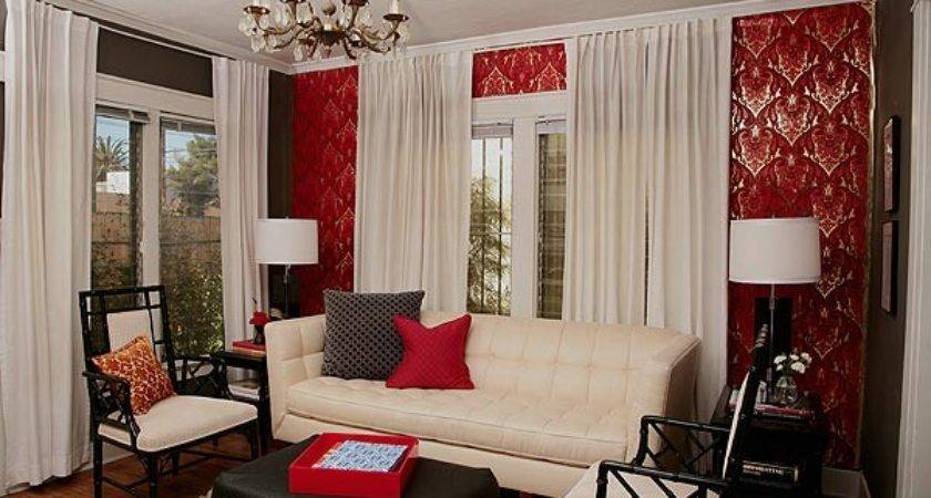 Combinations Red White Black Interiors