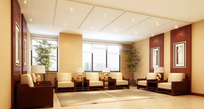 Company Reception Hall Design Rendering House