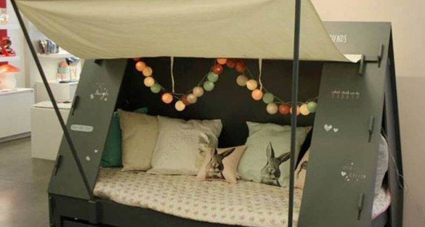 Contemporary Bed Tent Modern Storage Twin