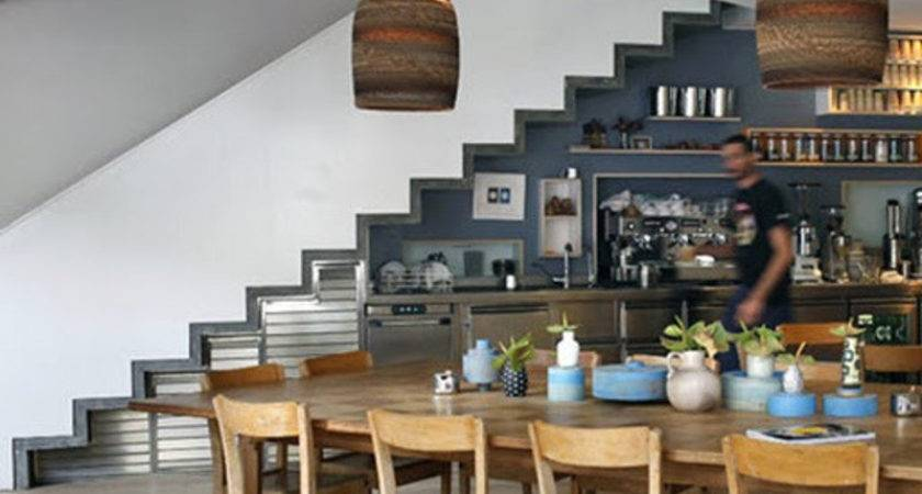 Contemporary Cafe Bar Interiors Decorating Style