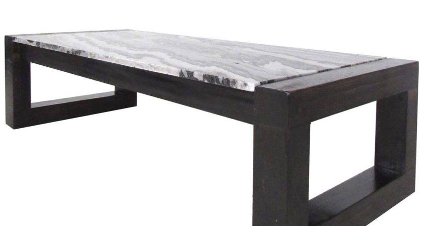 Contemporary Modern Marble Top Cocktail Table Sale