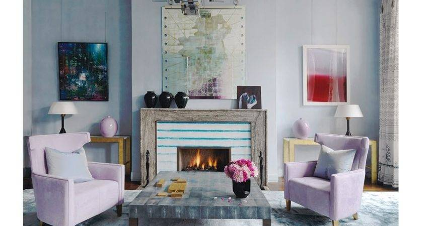Contemporary Pastel Living Room Interiors Color