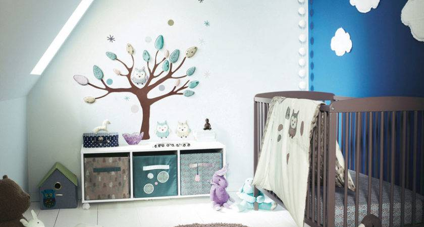 Cool Baby Room Tree Wall Decor Sloped Ceiling