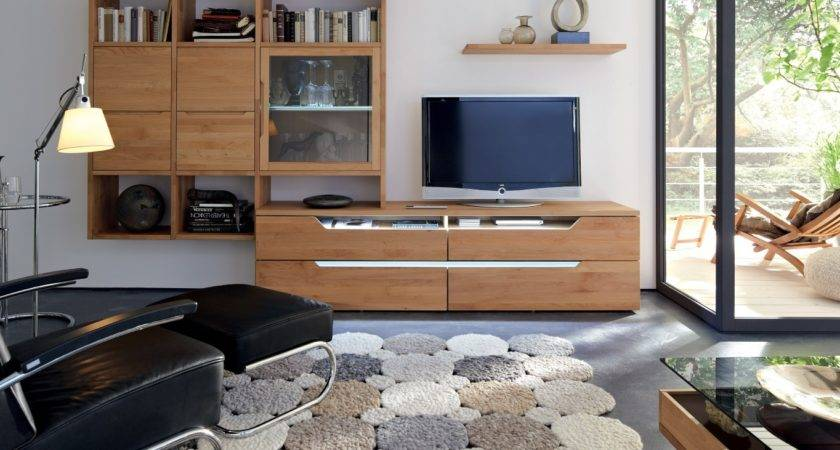 Cool Furniture Wooden Wall Units Room Black White
