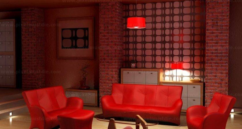Cool Red Living Room Tjihome