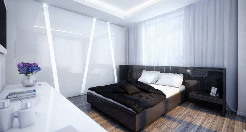Cool White Black Bedroom Design Inspiration Interior
