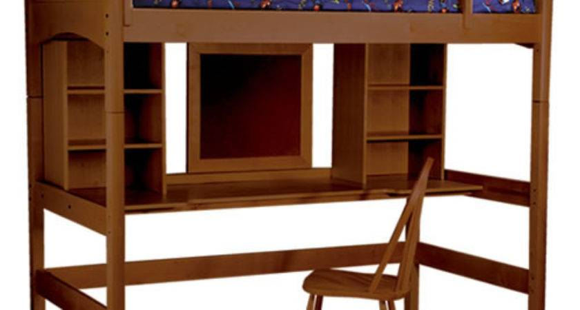 Cooley Study Twin Loft Bed Cherry Rosenberryrooms