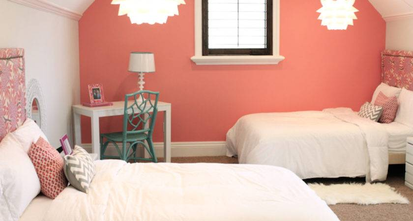 Coral Paint Colors Contemporary Girl Room Benjamin