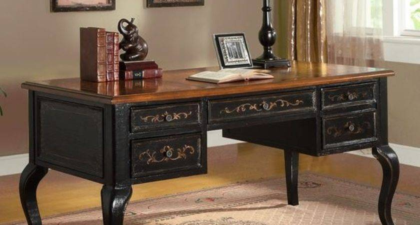 Corbin Black Tan Desk Furniture Central