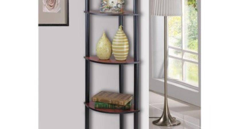 Corner Wall Shelves Tier Rack Display Storage Shelf