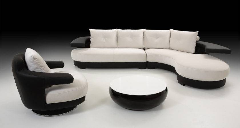 Cosmo Black White Leather Corner Sofa Right Hand Best