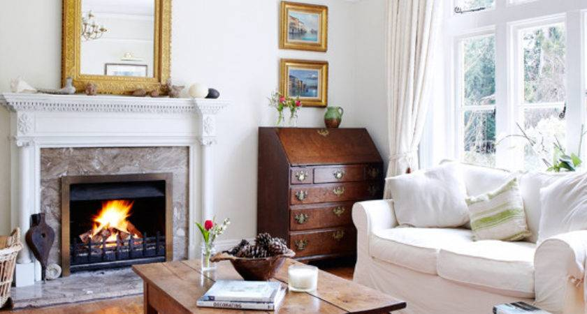 Cosy White Living Room Decorating Ideal Home