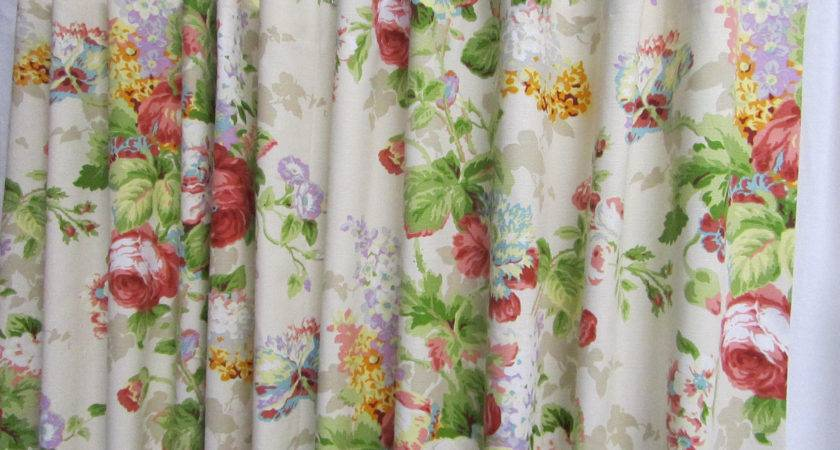 Cottage Shower Curtain Shabby Chic Floral