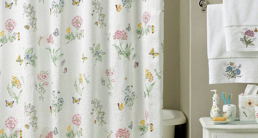 Cottage Style Bathroom Shower Curtains Curtain