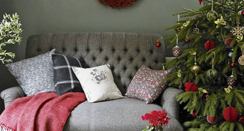 Country Christmas Living Room Ideas Ideal Home