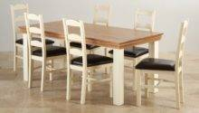 Country Cottage Dining Set Oak Table Leather Chairs