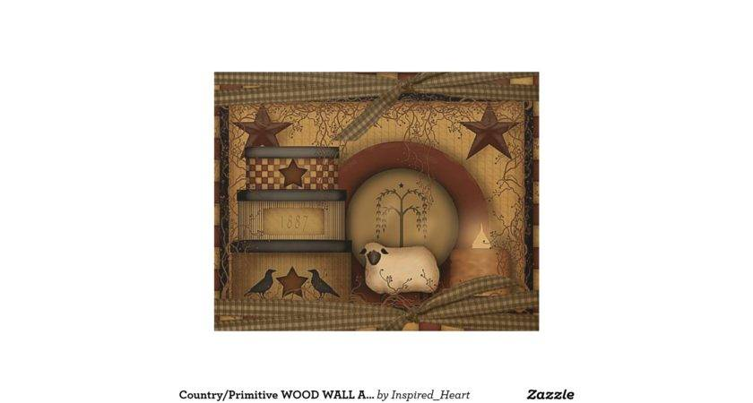 Country Primitive Wood Wall Art